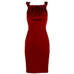 Evening dress red